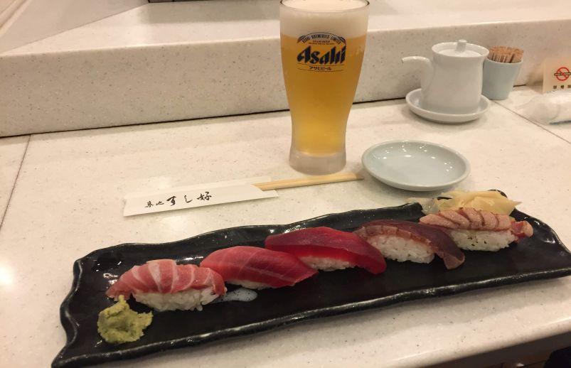 Dinner at Tsukiji Sushiko